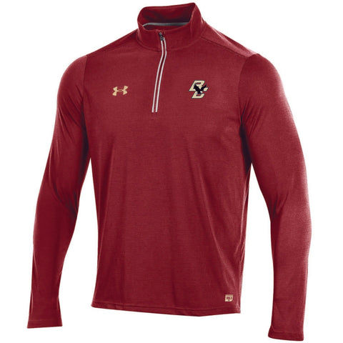Shop Boston College Eagles Under Armour Sideline On Field Light Pullover Red Jacket