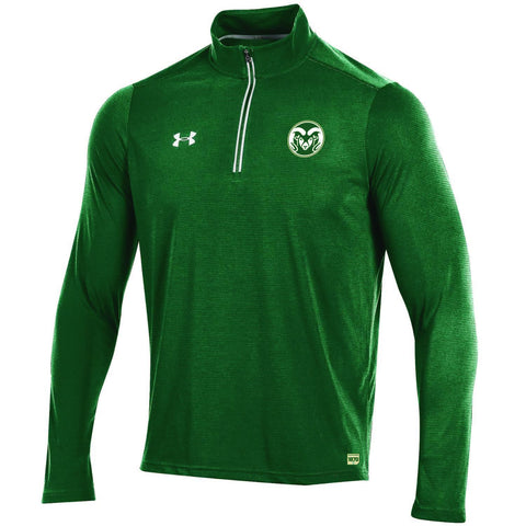 Shop Colorado State Rams Under Armour Sideline On Field 1/4 Zip Light Pullover Jacket