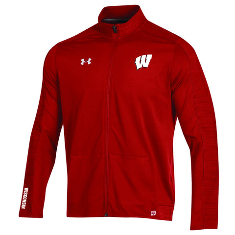 Wisconsin Badgers Under Armour On-Field Sideline Microthread Evo Full Zip Jacket