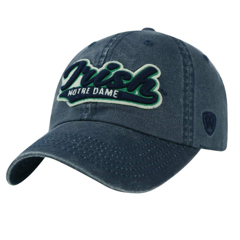 Shop Notre Dame Fighting Irish TOW Vintage Navy Park Style Adj. Slouch Relax Hat Cap