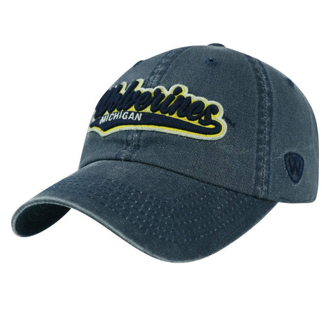 Shop Michigan Wolverines TOW Vintage Navy Park Style Adj. Slouch Relax Hat Cap