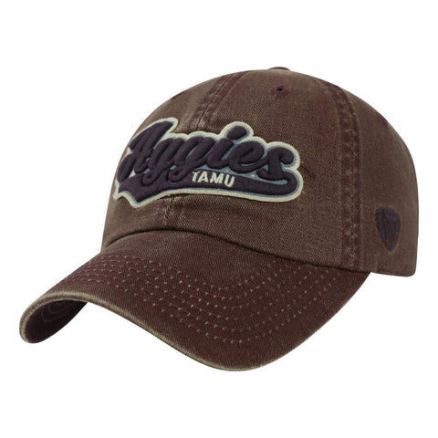Texas A&M Aggies TOW Vintage Burgundy Park Style Adj. Slouch Relax Hat Cap
