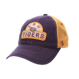 LSU Tigers Zephyr Purple & Gold Route Style Mesh Back Slouch Adj. Hat Cap