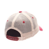 Wisconsin Badgers Zephyr Red & White Route Style Mesh Back Slouch Adj. Hat Cap