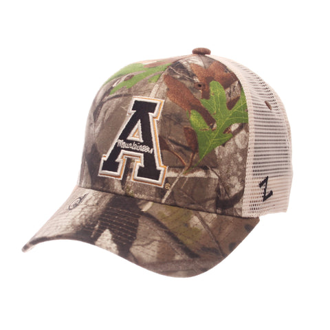 Shop Appalachian State Mountaineers Zephyr Next Camo Mesh Adj. Staple Trucker Hat Cap