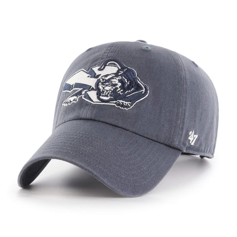BYU Cougars 47 Brand Faded Navy Vintage Retro Clean Up Adj. Slouch Hat Cap