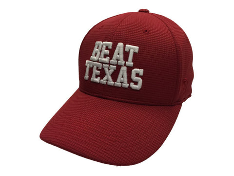 "Shop Oklahoma Sooners TOW ""Beat Texas"" Red Booster Plus Memory Flexfit Hat Cap (M/L)"