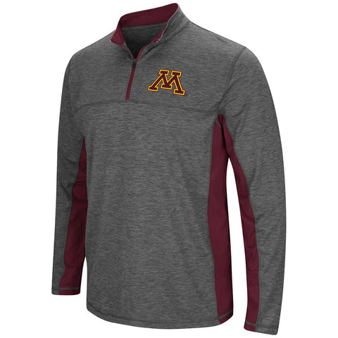 Minnesota Golden Gophers Colosseum Gray Milton 1/4 Zip LS Windshirt