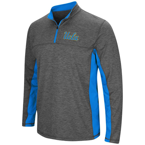 Shop UCLA Bruins Colosseum Charcoal Gray & Blue Milton 1/4 Zip LS Windshirt
