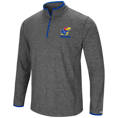 Shop Kansas Jayhawks Colosseum Gray Diemert 1/4 Zip LS Pullover Windshirt