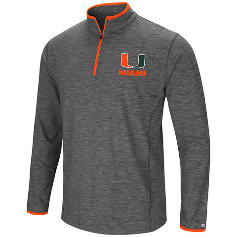 Shop Miami Hurricanes Colosseum Gray Diemert 1/4 Zip LS Pullover Windshirt