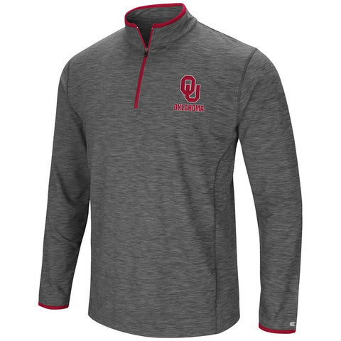 Oklahoma Sooners Colosseum Gray Diemert 1/4 Zip LS Pullover Windshirt - Sporting Up