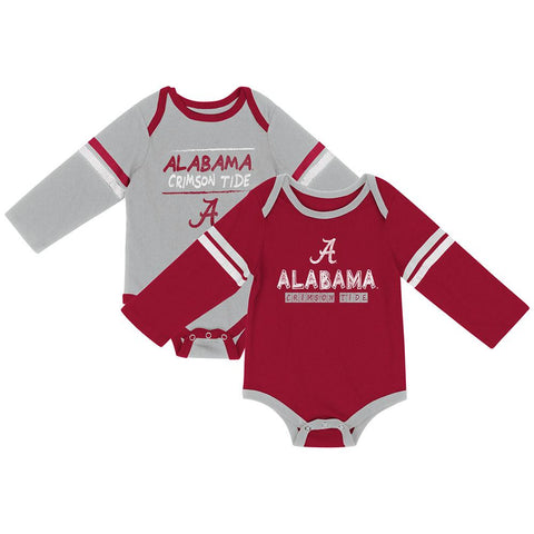 Alabama Crimson Tide Colosseum INFANT Boy's LS One Piece Outfit 2 Pack