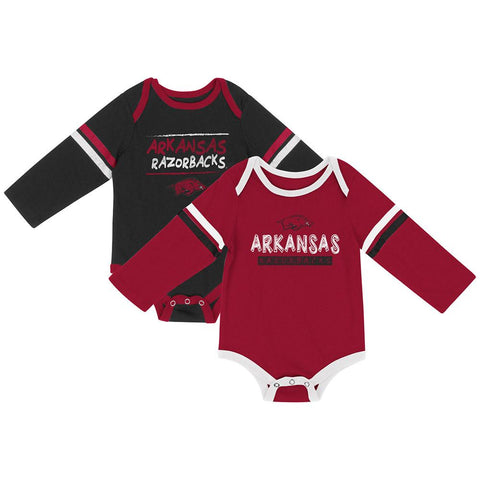 Shop Arkansas Razorbacks Colosseum INFANT Boy's LS One Piece Outfit 2 Pack