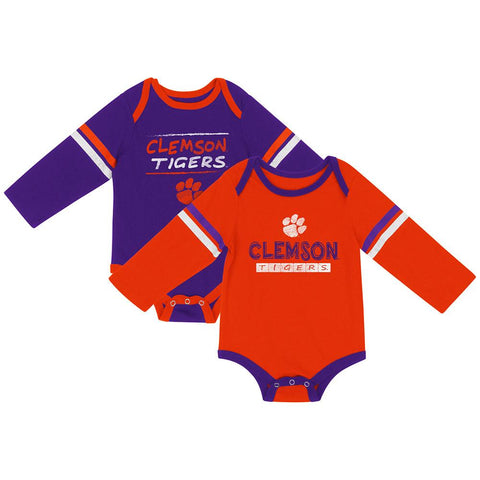 Clemson Tigers Colosseum INFANT Boy's LS One Piece Outfit 2 Pack