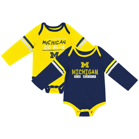 Shop Michigan Wolverines Colosseum INFANT Boy's LS One Piece Outfit 2 Pack