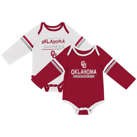 Shop Oklahoma Sooners Colosseum INFANT Boy's LS One Piece Outfit 2 Pack