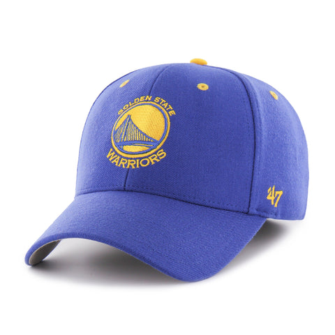 Shop Golden State Warriors 47 Brand Royal Blue Kickoff Contender Stretch Fit Hat Cap