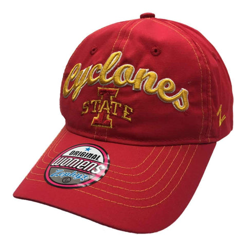 Shop Iowa State Cyclones Zephyr WOMEN'S Red Performance Adj. Strap Slouch Hat Cap