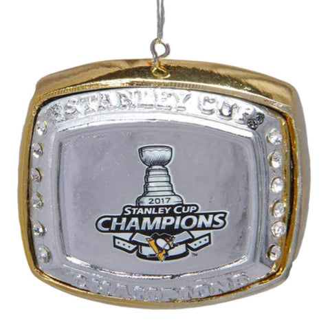 Pittsburgh Penguins 2017 Stanley Cup Champions Ring Christmas Tree Ornament - Sporting Up