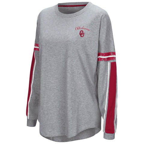 "Shop Oklahoma Sooners Colosseum WOMEN'S Gray ""Mast"" Oversized LS T-Shirt"