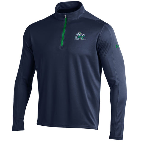 Shop Notre Dame Fighting Irish Under Armour Navy Golf Loose 1/4 Zip LS Pullover
