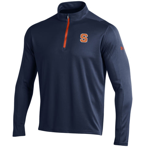 Shop Syracuse Orange Under Armour Navy Golf Loose 1/4 Zip LS Pullover
