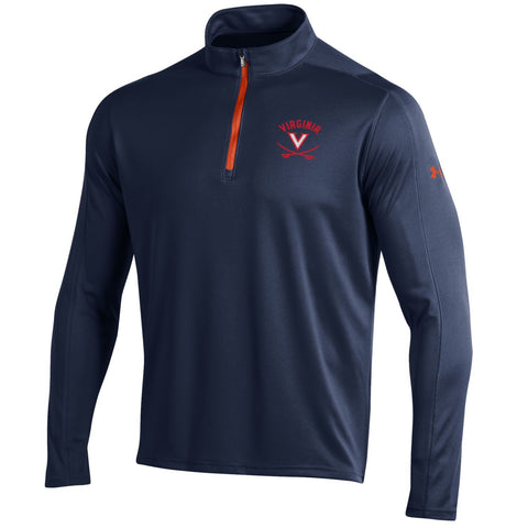 Shop Virginia Cavaliers Under Armour Navy Golf Loose 1/4 Zip LS Pullover