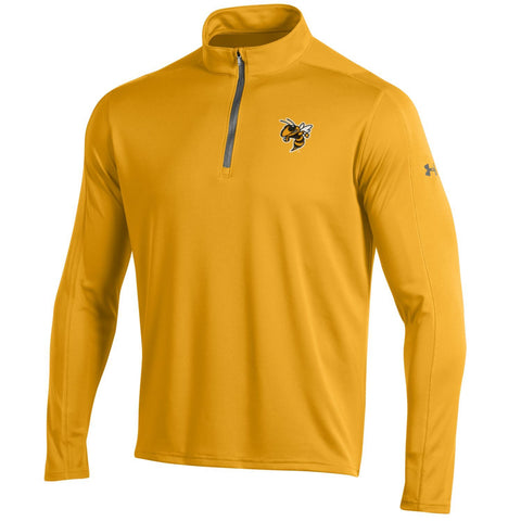 Shop Georgia Tech Yellow Jackets Under Armour Golf Loose 1/4 Zip LS Pullover