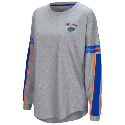 "Shop Florida Gators Colosseum WOMEN'S Gray ""Mast"" Oversized LS T-Shirt"