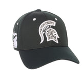 "Michigan State Spartans Zephyr Forest Green ""Rambler"" Stretch Fit Hat Cap (M/L)"