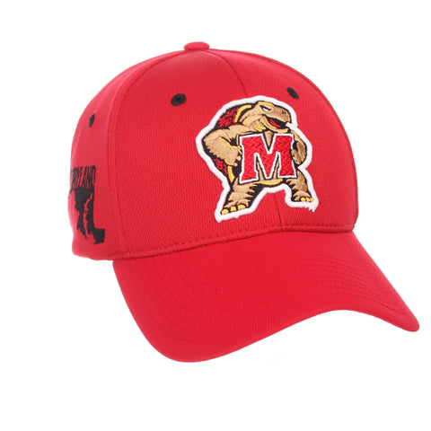 "Maryland Terrapins Zephyr Red ""Rambler"" Structured Stretch Fit Hat Cap (M/L)"