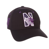 "Northwestern Wildcats Zephyr Black ""Rambler"" Stretch Fit Hat Cap (M/L)"