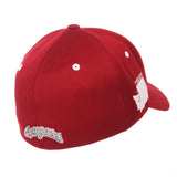 "Washington State Cougars Zephyr Cardinal Red ""Rambler"" Stretch Fit Hat Cap (M/L)"