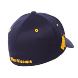 "West Virginia Mountaineers Zephyr Dark Navy ""Rambler"" Stretch Fit Hat Cap (M/L)"
