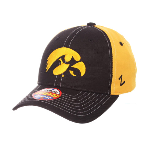 "Shop Iowa Hawkeyes Zephyr YOUTH Black Yellow Two-Tone ""Staple"" Snapback Hat Cap"