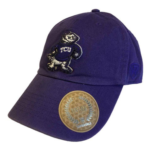 TCU Horned Frogs TOW Purple Vintage Crew Adjustable Strapback Slouch Hat Cap - Sporting Up