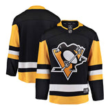 Pittsburgh Penguins Fanatics Black Breakaway NHL Hockey Home Jersey