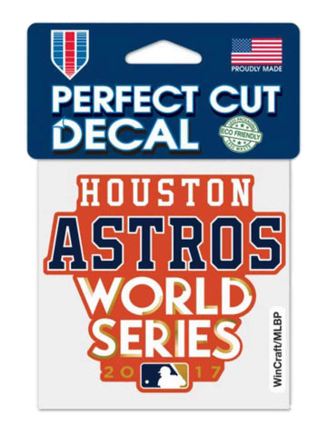 "Shop Houston Astros 2017 World Series WinCraft Orange Perfect Cut Decal (4""x4"")"
