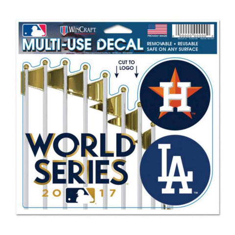 Shop Houston Astros Los Angeles Dodgers 2017 World Series Dueling Multi-Use Decal