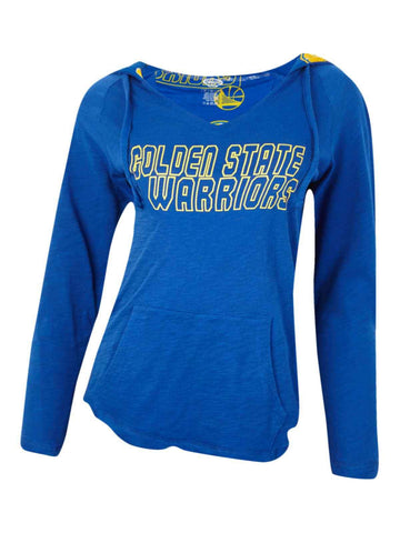 Shop Golden State Warriors Concepts Sport WOMEN'S Blue Slide LS Hooded T-Shirt
