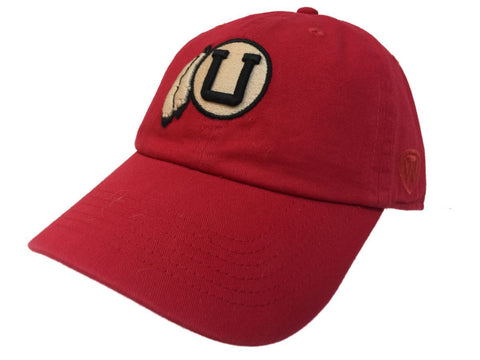 Utah Utes TOW Red Vintage Crew Adjustable Strapback Slouch Hat Cap - Sporting Up