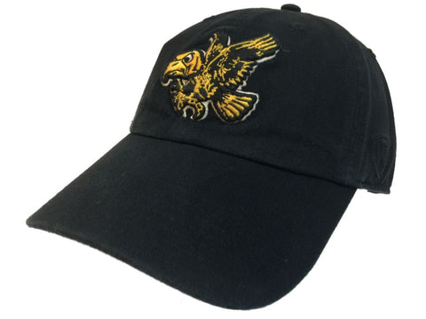 Iowa Hawkeyes TOW Black Vintage Crew Adjustable Strapback Slouch Hat Cap - Sporting Up