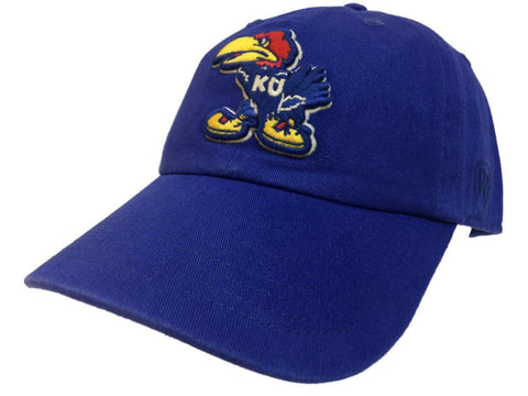 Kansas Jayhawks TOW Royal Blue Vintage Crew Adjustable Strapback Slouch Hat Cap - Sporting Up
