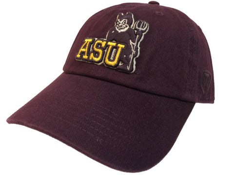 Arizona State Sun Devils TOW Burgundy Vintage Crew Adj. Strapback Slouch Hat Cap - Sporting Up