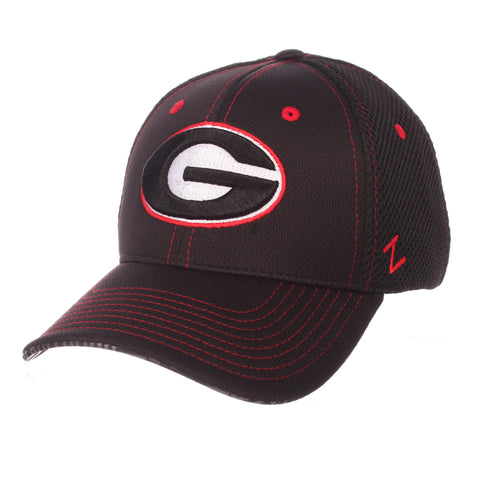 "Shop Georgia Bulldogs Zephyr Black ""Undertaker"" Mesh Stretch Fit Hat Cap (M/L)"