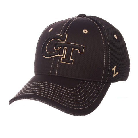 "Shop Georgia Tech Yellow Jackets Zephyr ""Undertaker"" Mesh Stretch Fit Hat Cap (M/L)"