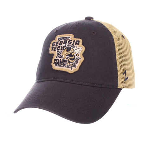 "Georgia Tech Yellow Jackets Zephyr Navy ""Freeway"" Mesh Adj. Slouch Hat Cap"