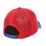 "Kansas Jayhawks Zephyr ""Freeway"" Blue w/ Red Mesh Adj. Slouch Hat Cap"
