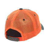 "Miami Hurricanes Zephyr ""Freeway"" Green w/ Orange Mesh Adj. Slouch Hat Cap"